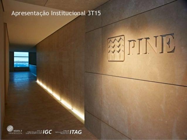 Apresentação Institucional 3T15