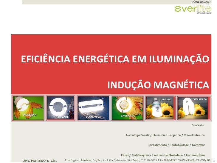 CONFIDENCIAL EFICIÊNCIA ENERGÉTICA EM ILUMINAÇÃO                                                              ...