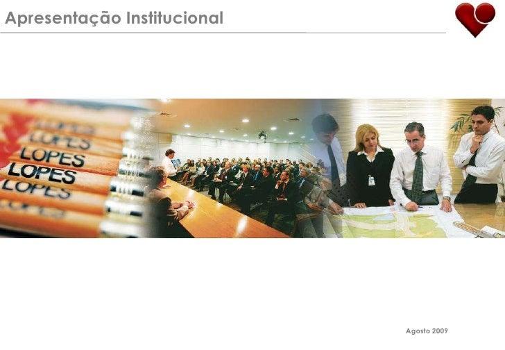 Apresentação Institucional<br />Agosto 2009<br />