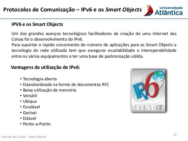 ipv6 smart objects Ipv6 for the masses (of sensors) presentation by: colin o'flynn atmel corporation cisco systems proto6 llc swedish institute of smart objects overview of ipv6.