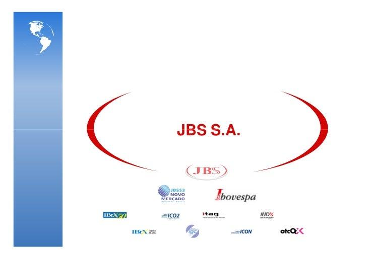 JBS: janeiro e fevereiro 2012 Slide 2