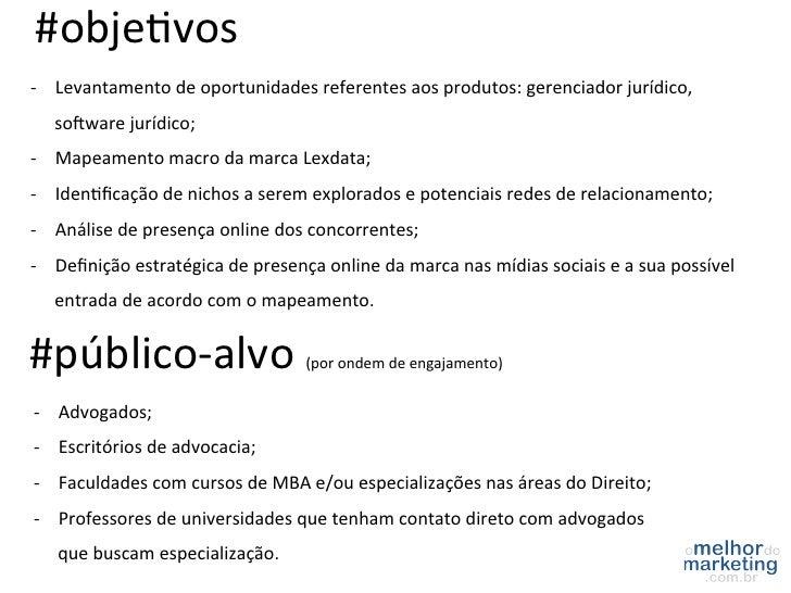 #objeRvos -‐ Levantamento de oportunidades referentes aos produtos: gerenciador jurídico,     sogware...