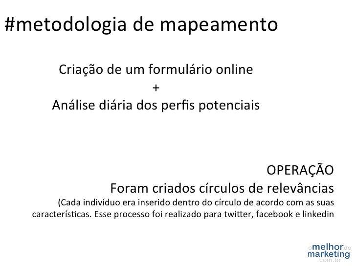 #metodologia de mapeamento            Criação de um formulário online                                    +...