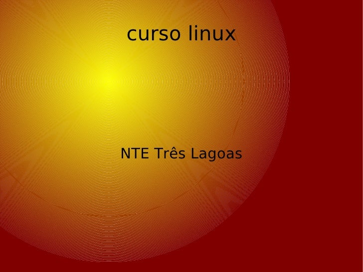 curso linux NTE Três Lagoas