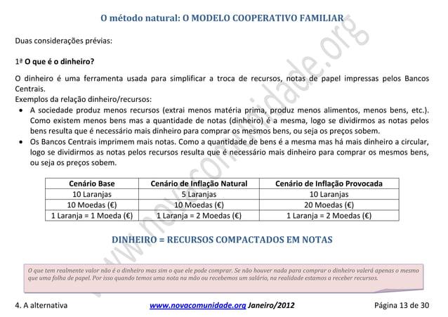 O método natural: O MODELO COOPERATIVO FAMILIARDuas considerações prévias:                                            1ª O...