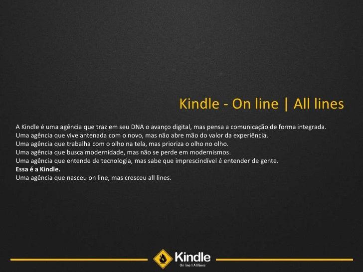 Apresentação mídia online - Kindle - All lines Slide 2