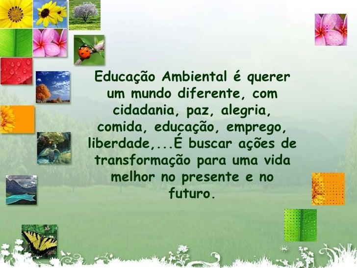 Projeto Educação Ambiental Ensino Fundamental