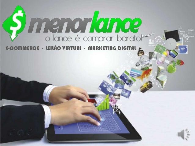 E-COMMERCE - LEILÃO VIRTUAL - MARKETING DIGITAL