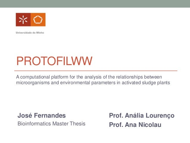 PROTOFILWW A computational platform for the analysis of the relationships between microorganisms and environmental paramet...