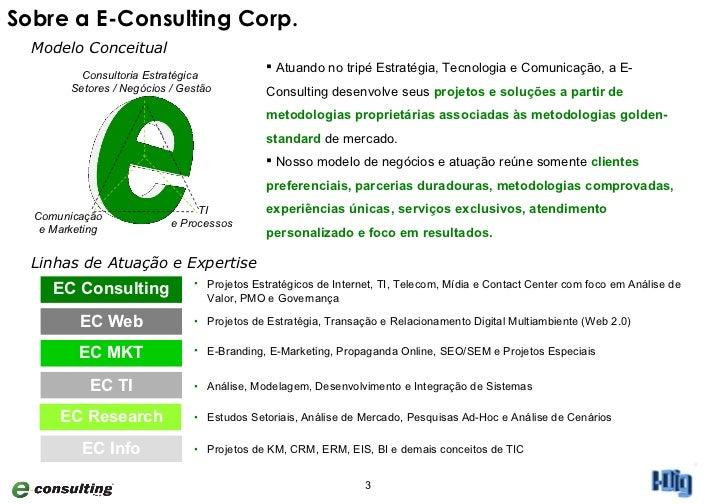 Apresentação Metodologias I-Dig Compilado E-Consulting Corp. 2011 Slide 3
