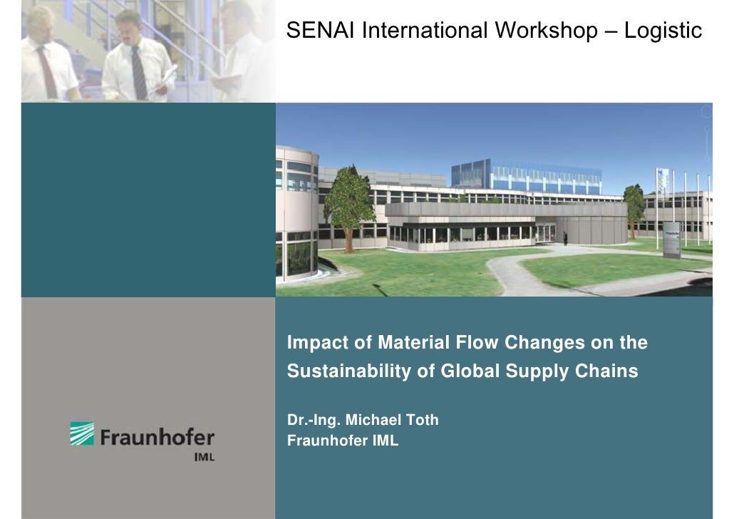 SENAI International Workshop – LogisticImpact of Material Flow Changes on theSustainability of Global Supply ChainsDr.-Ing...