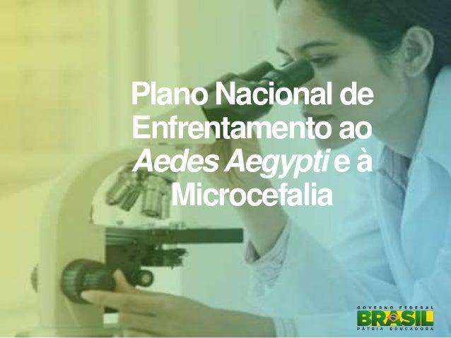Plano Nacional de Enfrentamento ao AedesAegypti e à Microcefalia