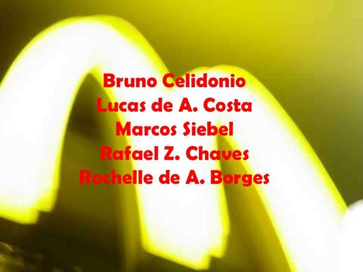 Bruno Celidonio Lucas de A. Costa Marcos Siebel Rafael Z. Chaves Rochelle de A. Borges