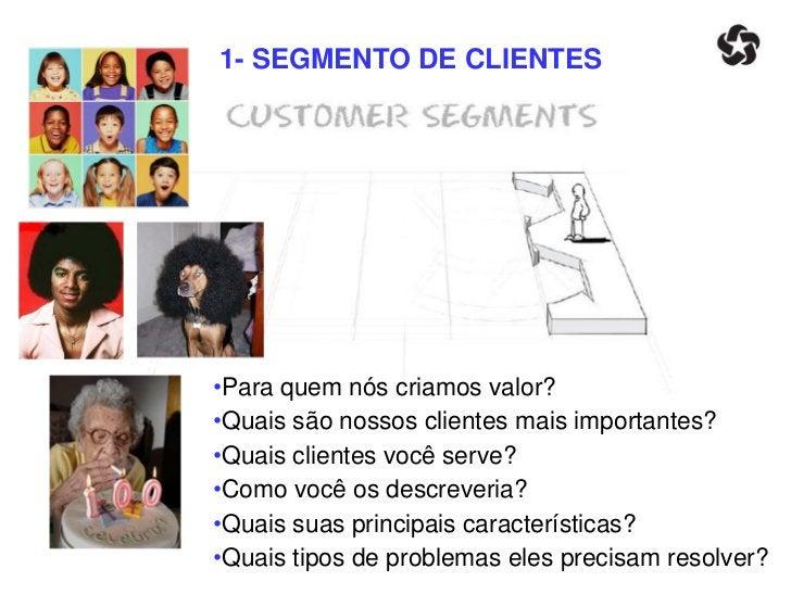 1- SEGMENTO DE CLIENTES   É importante definir seu NICHO.O segmento específico de seus clientes.