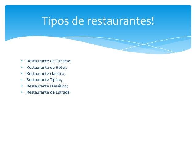 Tipos de restaurante for Tipos de restaurantes franceses