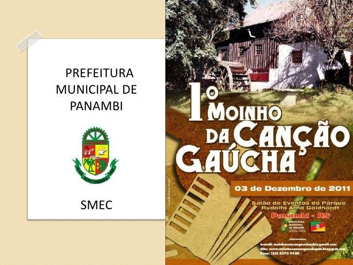 PREFEITURAMUNICIPAL DE  PANAMBI   SMEC
