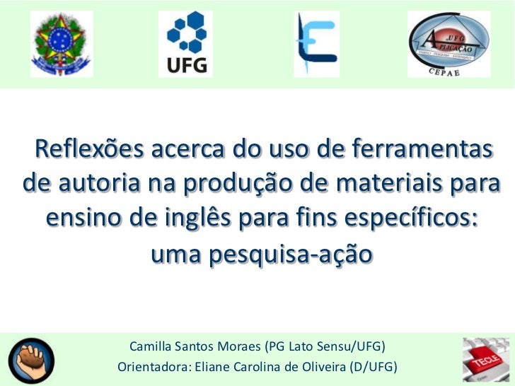 Reflexões acerca do uso de ferramentasde autoria na produção de materiais para  ensino de inglês para fins específicos:   ...