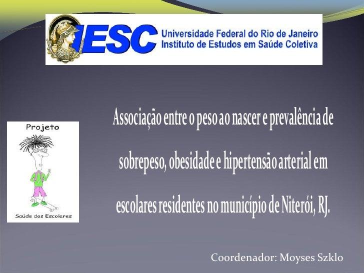 Associação entre o peso ao nascer e prevalência de sobrepeso, obesidade e hipertensão arterial emescolares residentes no m...