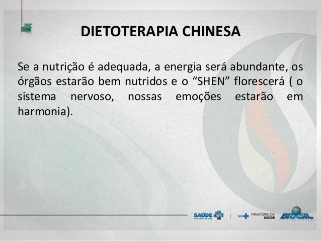 """DIETOTERAPIA CHINESA Se a nutrição é adequada, a energia será abundante, os órgãos estarão bem nutridos e o """"SHEN"""" floresc..."""