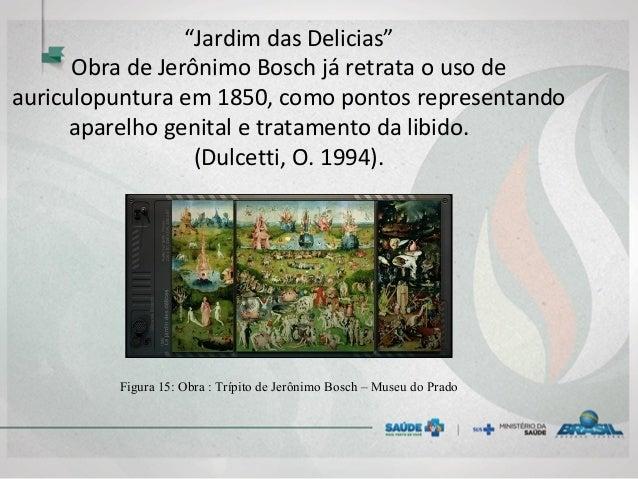 """""""Jardim das Delicias"""" Obra de Jerônimo Bosch já retrata o uso de auriculopuntura em 1850, como pontos representando aparel..."""