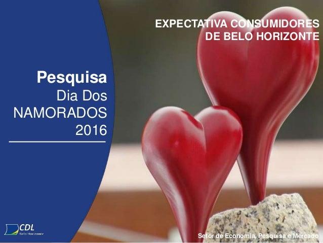 Pesquisa Dia Dos NAMORADOS 2016 Setor de Economia, Pesquisa e Mercado EXPECTATIVA CONSUMIDORES DE BELO HORIZONTE