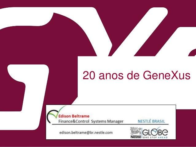 20 anos de GeneXus