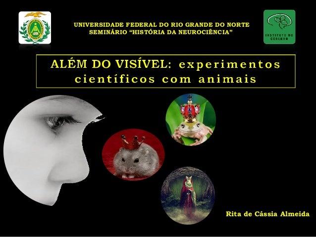 """UNIVERSIDADE FEDERAL DO RIO GRANDE DO NORTE  SEMINÁRIO """"HISTÓRIA DA NEUROCIÊNCIA""""  Rita de Cássia Almeida"""