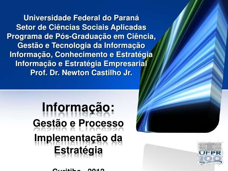 Universidade Federal do Paraná   Setor de Ciências Sociais AplicadasPrograma de Pós-Graduação em Ciência,    Gestão e Tecn...