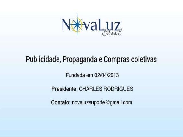 Apresentação nova luz brasil