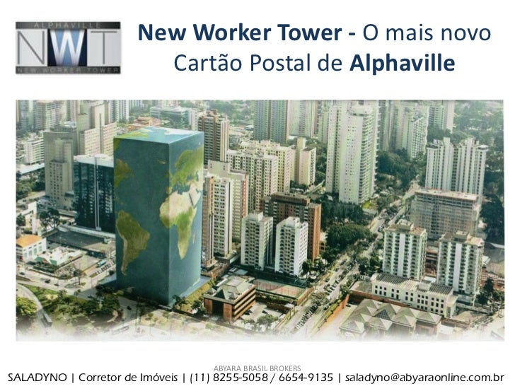 New Worker Tower - O mais novo                         Cartão Postal de Alphaville                                     ABY...