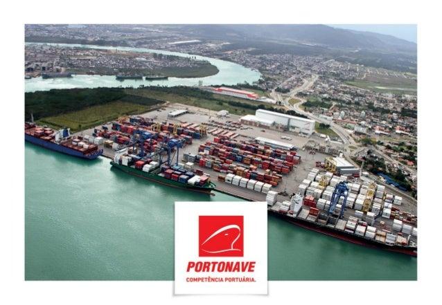 PORTONAVE – QUEM SOMOS  •Terminal portuário privado, localizado em Navegantes, SC;  •Iniciou as operações em outubro de 20...