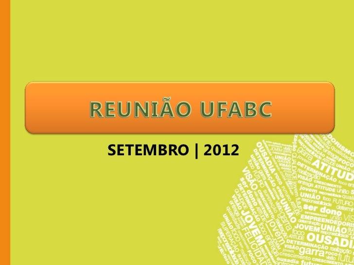 SETEMBRO | 2012