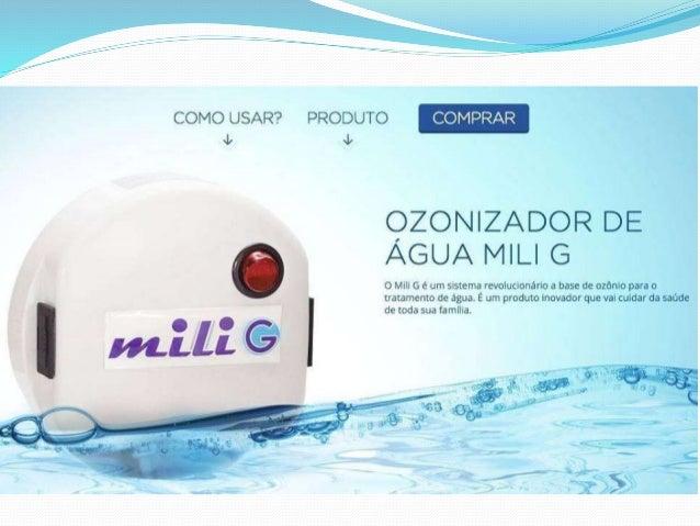 Apresentação ozonizador de água mili g