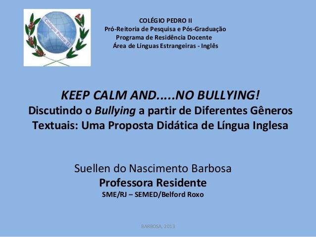 COLÉGIO PEDRO II Pró-Reitoria de Pesquisa e Pós-Graduação Programa de Residência Docente Área de Línguas Estrangeiras - In...
