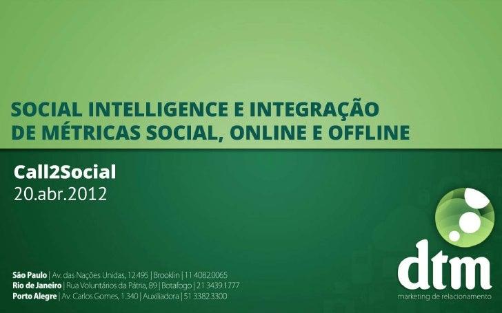 [Call2Social] Social Intelligence e integração de métricas online e offline