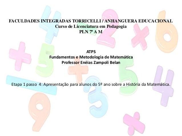 FACULDADES INTEGRADAS TORRICELLI / ANHANGUERA EDUCACIONAL                Curso de Licenciatura em Pedagogia               ...