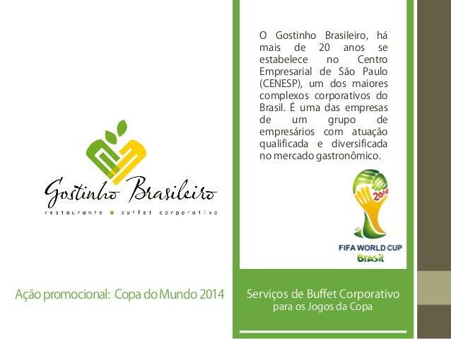 O Gostinho Brasileiro, há mais de 20 anos se estabelece no Centro Empresarial de São Paulo (CENESP), um dos maiores comple...