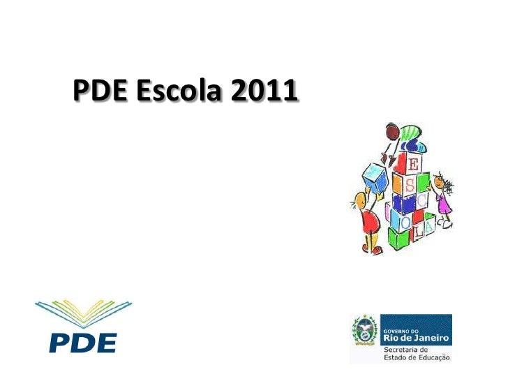 PDE Escola 2011