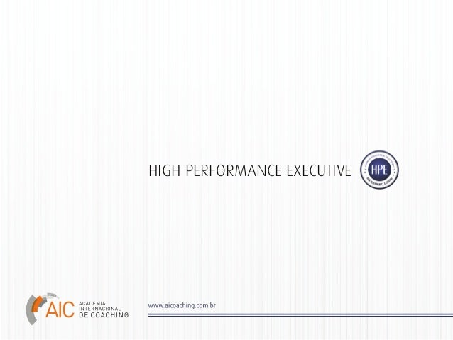 HIGH PERFORMANCE EXECUTIVE