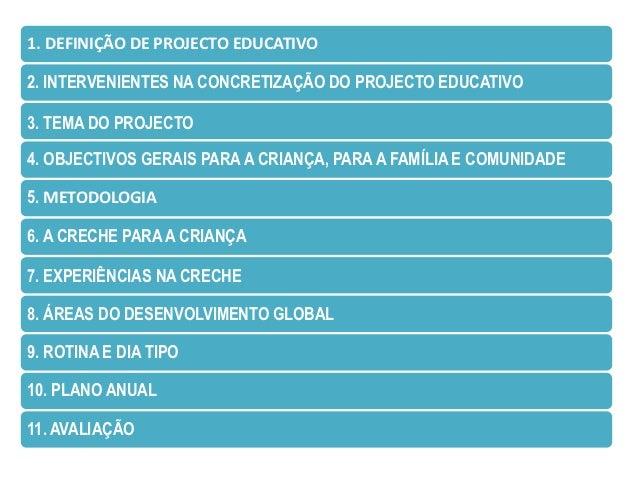 1. DEFINIÇÃO DE PROJECTO EDUCATIVO                PROJECTO EDUCATIVO                princípios, valores, metas/objectivos ...