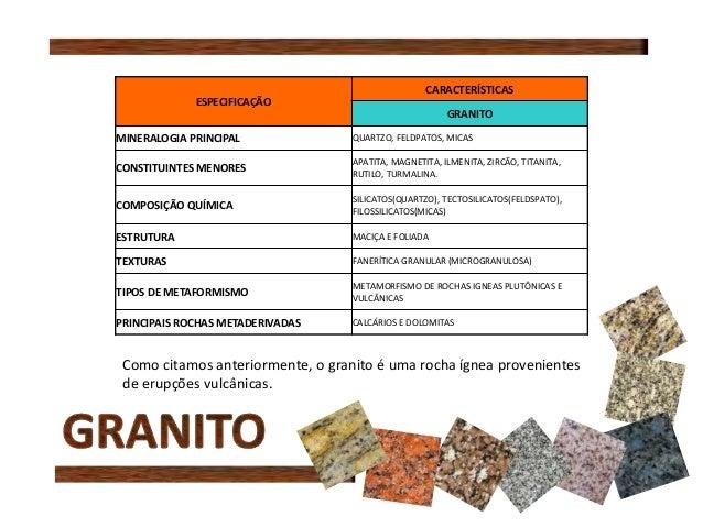 Apresenta o pedras naturais for Granito caracteristicas