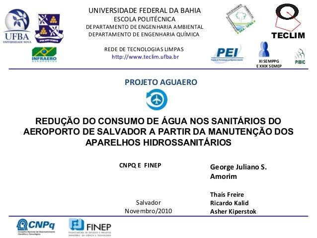 UNIVERSIDADE FEDERAL DA BAHIA                   ESCOLA POLITÉCNICA           DEPARTAMENTO DE ENGENHARIA AMBIENTAL         ...
