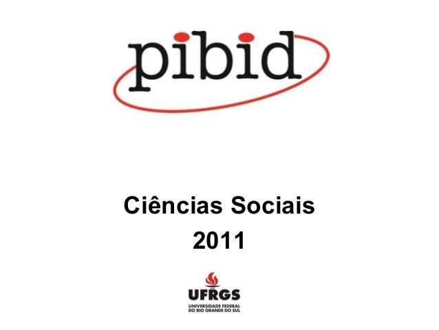 Ciências Sociais 2011