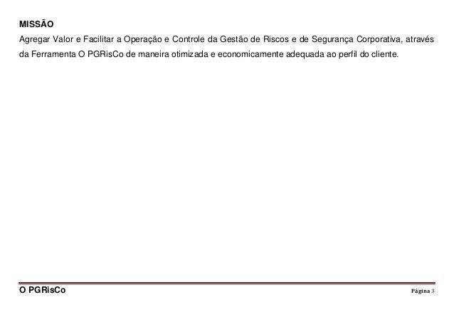 PGRisCo (software para gerenciamento de riscos corporativos) Slide 3
