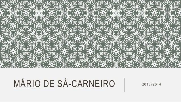 MÁRIO DE SÁ-CARNEIRO 2013/2014