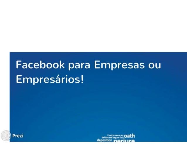 Apresentação Facebook para Empresas Slide 3