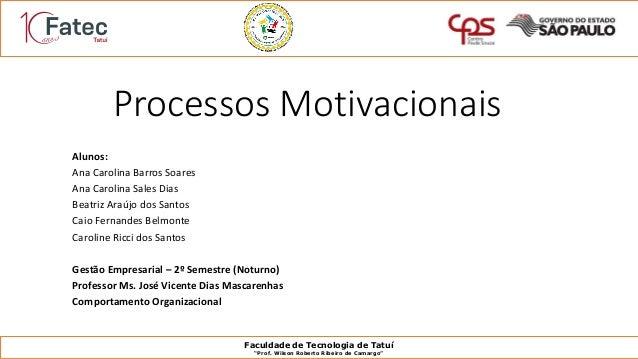 Processos Motivacionais Focado No Ambiente De Trabalho