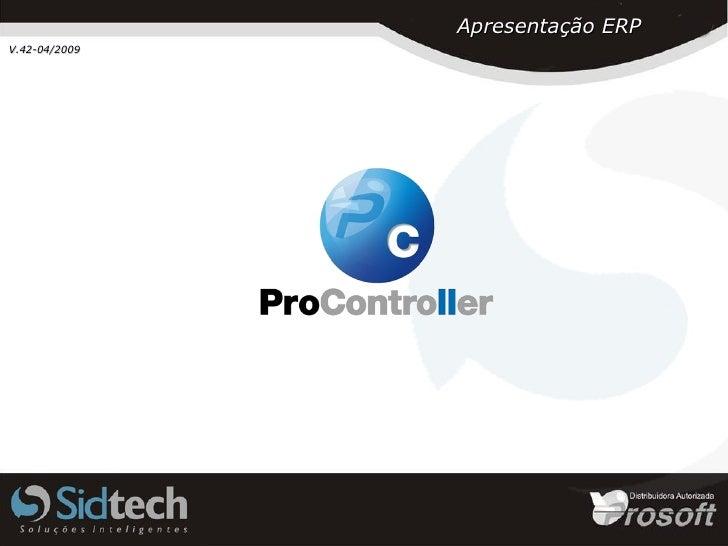 Apresentação ERP V.42-04/2009