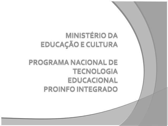 """Curso de Introdução à Educação Digital Projeto de Pesquisa e Aprendizagem """"PIA"""""""