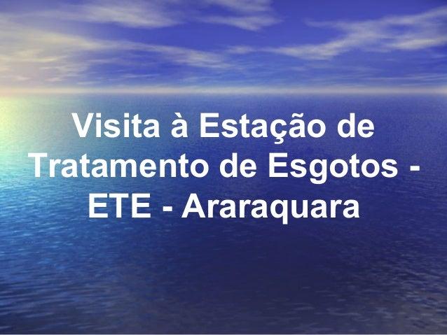 Visita à Estação de Tratamento de Esgotos ETE - Araraquara